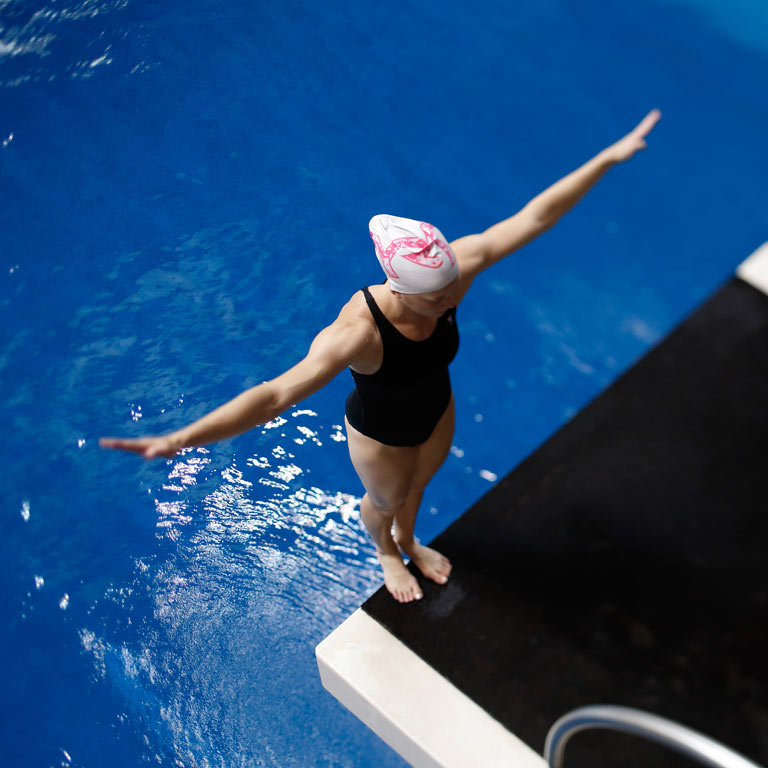 IU diver and Olympic athlete Amy Cozad.