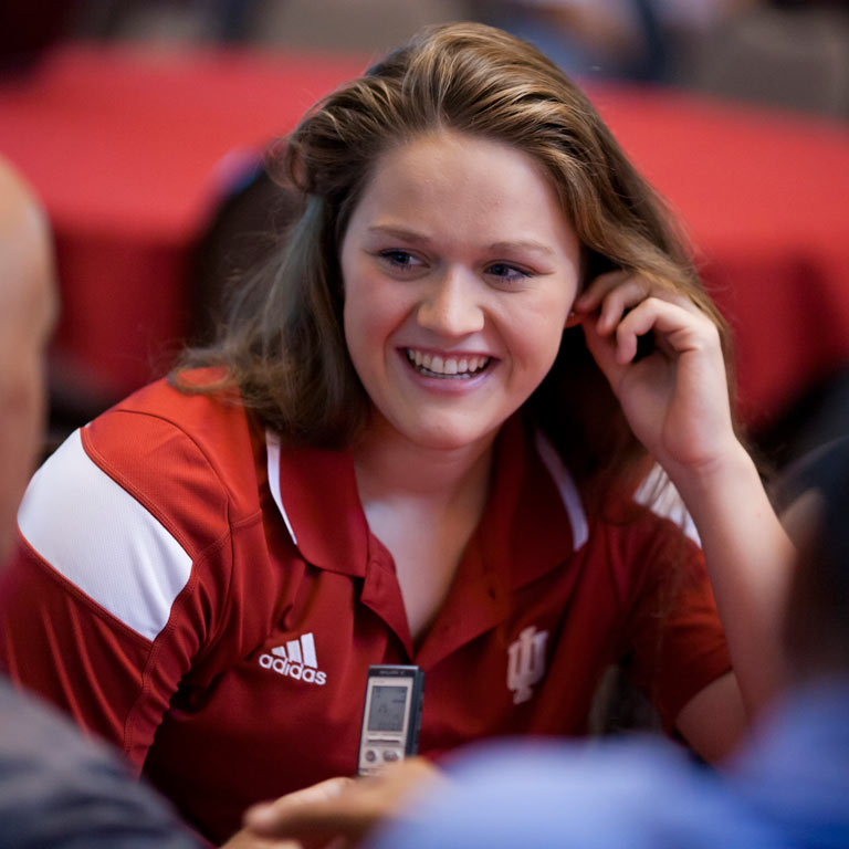 IU swimmer and Olympic athlete Kennedy Goss.