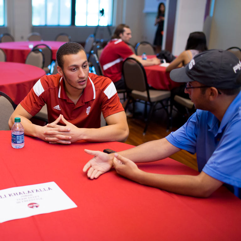 IU swimmer and Olympic athlete Ali Khalafalla.