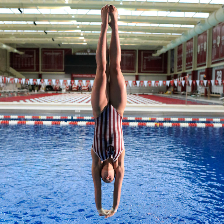IU diver and Olympic athlete Jessica Parratto.