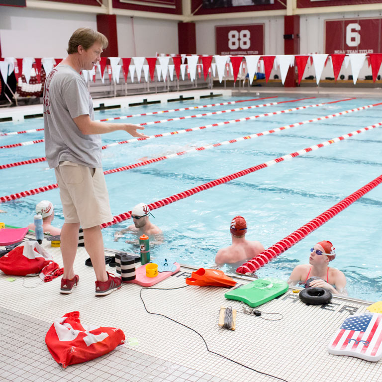 IU men's and women's swimming program head coach Ray Looze, who is assistant coach of the USA Olympic women's swimming team.